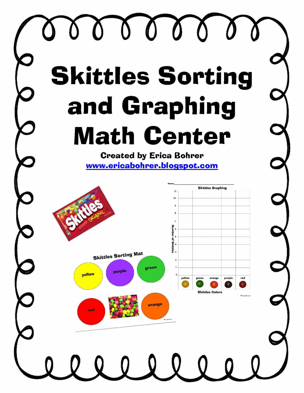 Erica Bohrer S First Grade Free Skittles Math Center Great For Learning How To Graph The Kids