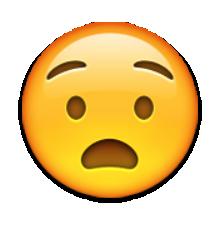 Anguished Face Emoji Emoji Pictures Crying Emoji