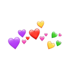 Love Amor Emoji Sticker Crown Corona Heart Corazon Blue