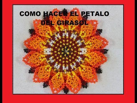 52f528791e58 PASO SIETE COMO HACER EL PÉTALO DEL GIRASOL - YouTube