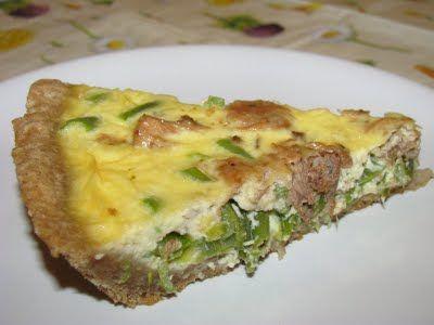 Í z k a r a v á n: Zöldbabos-tonhalas quiche