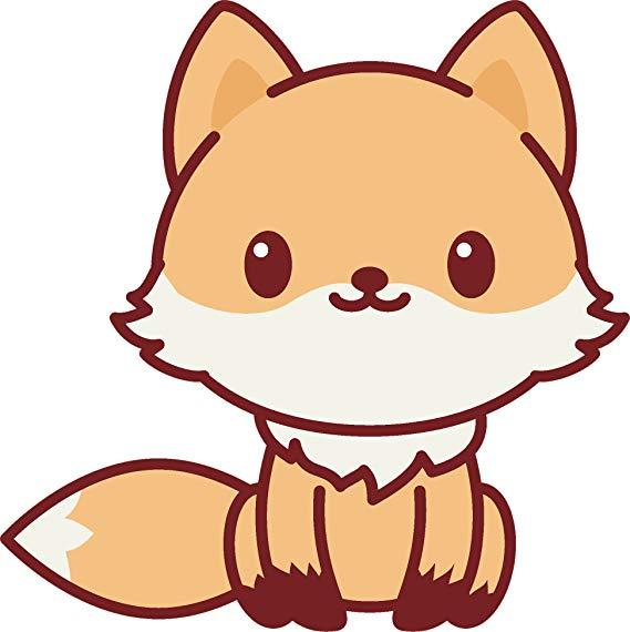 Amazon Com Divine Designs Adorable Cute Kawaii Animal Cartoon Vinyl Decal Sticker 4 Tall Fox Cute Kawaii Animals Cute Kawaii Drawings Cute Cartoon Drawings