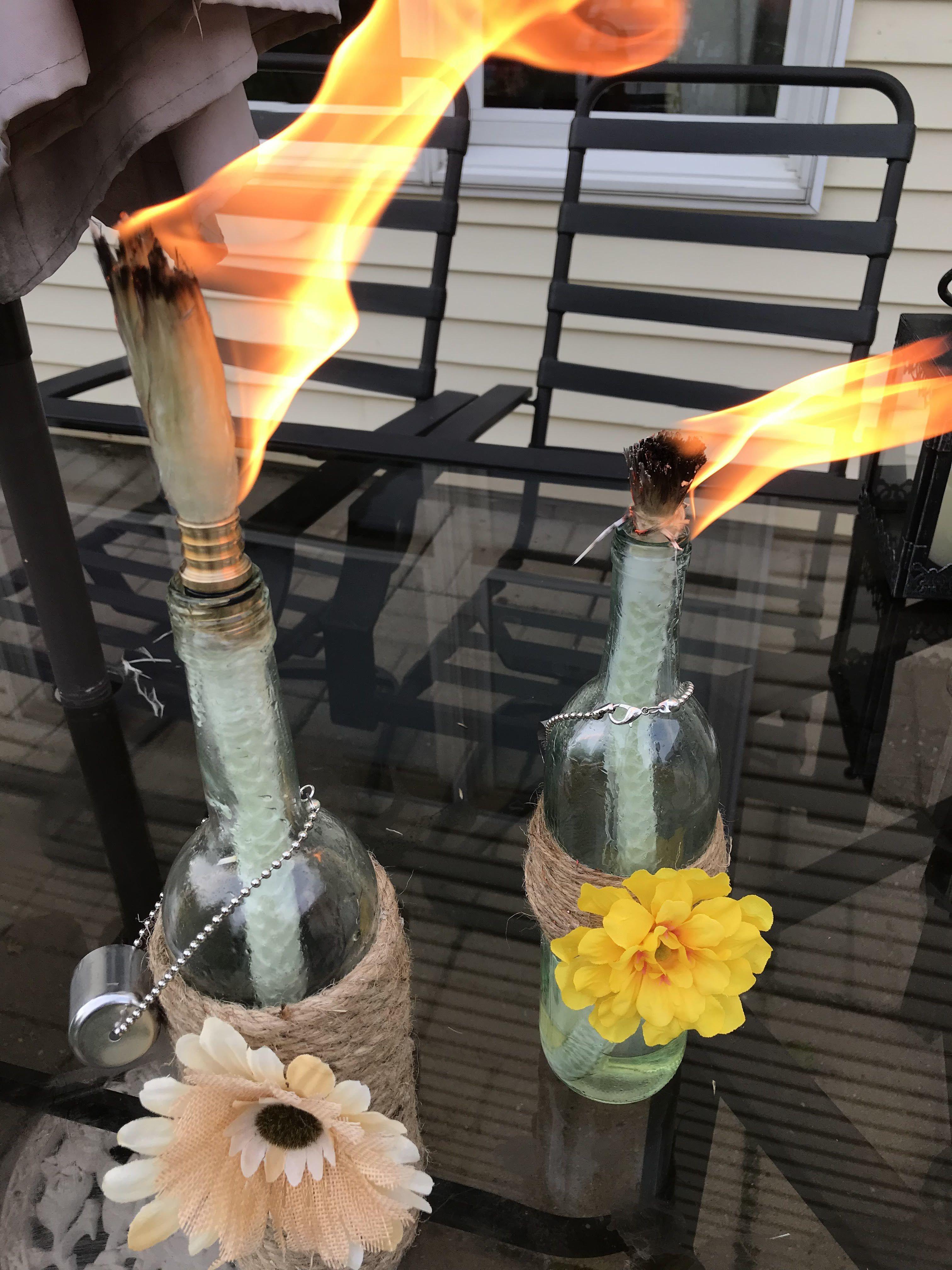 Tiki Torch Kit Tiki Torch Oil Lamp Tiki Torch Bottle Holder For