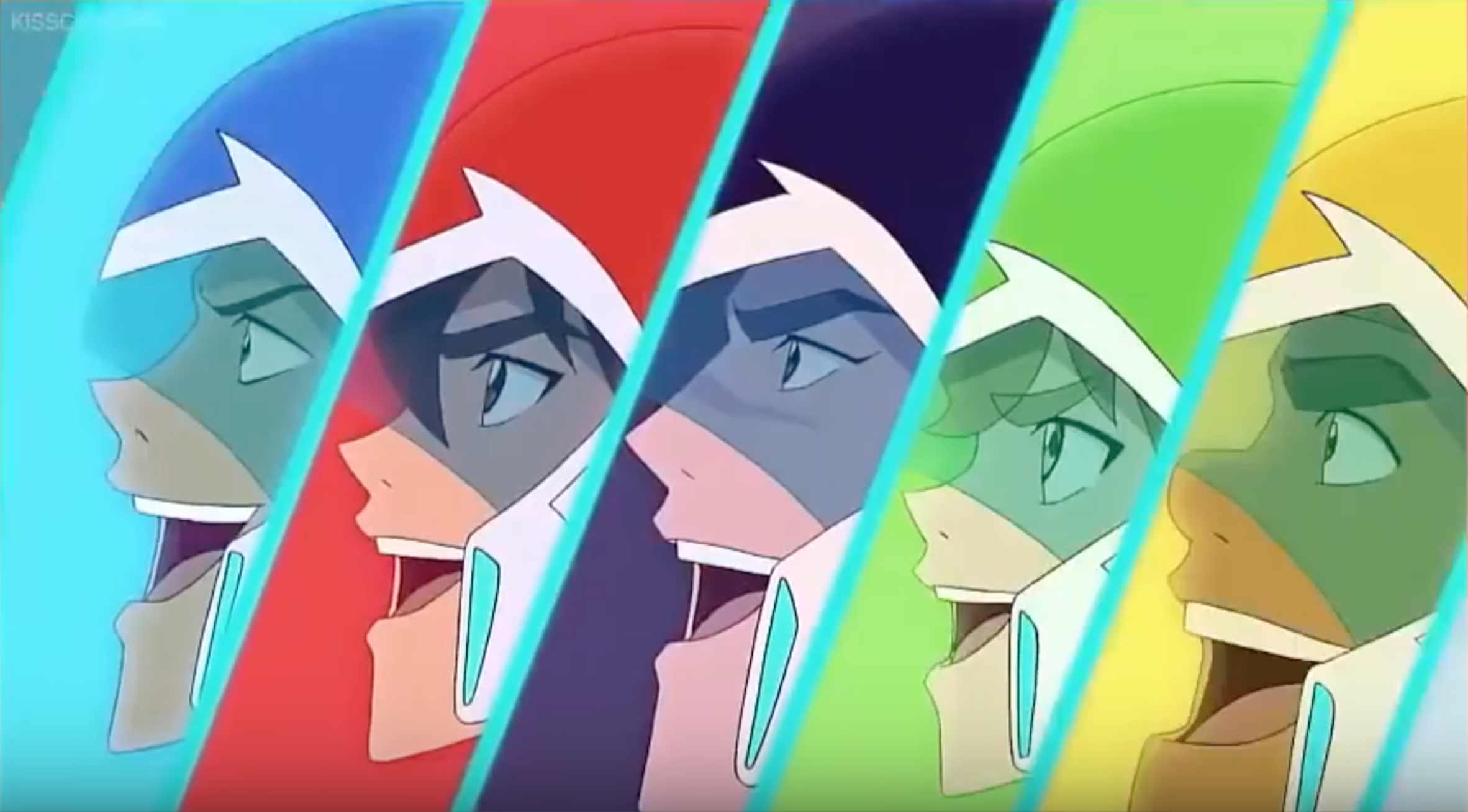 "Lance, Keith, Shiro, Pidge and Hunk excitedly- ""Yeah!"" from Voltron Legendary…"