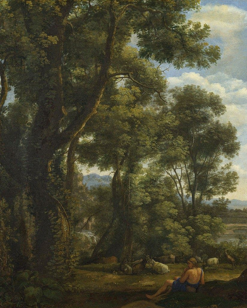 LANDSCAPE WITH A GOATHERD AND GOATS. suggested date : 1636 / 1637. oil on canvas. 52 × 41 cm. London. The National Gallery. Inv. No. NG 58  ( MRP 15 ).