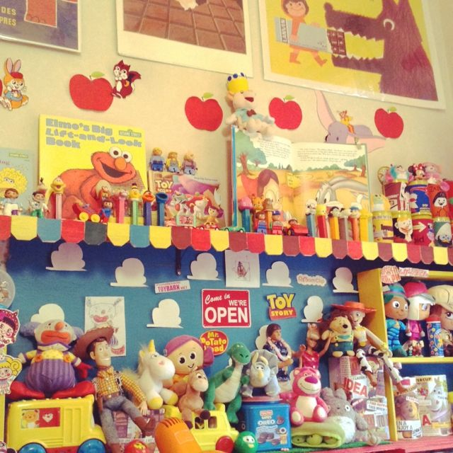 棚 見せる収納 レトロポップ Chocoholic おもちゃ などのインテリア