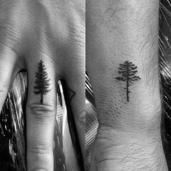 50 Simple Tree Tattoo Designs For Men Forest Ink Ideas Simple Tree Tattoo Tree Tattoo Men Men Finger Tattoos