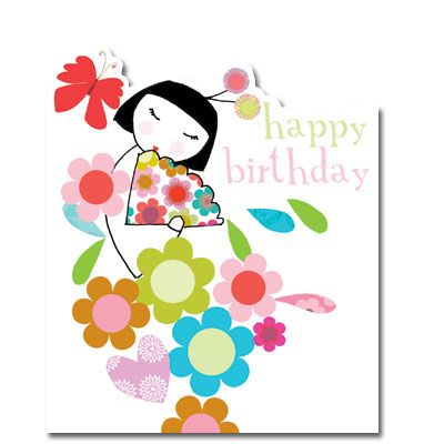 Japanese Girl Birthday Card available from our website – Website for Birthday Cards