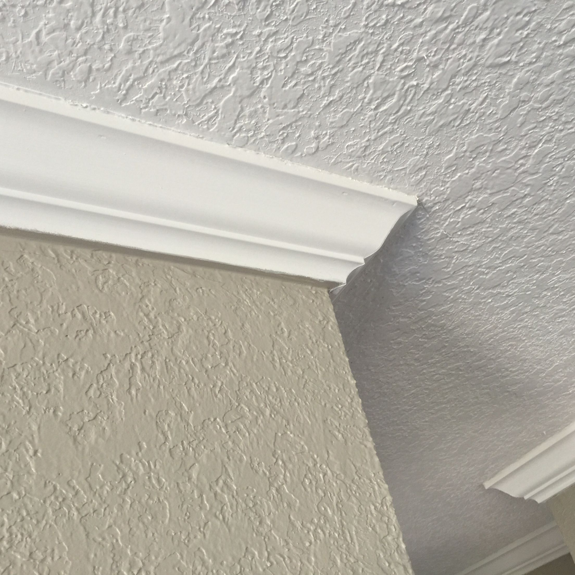Knockdown Texture Applied And Crown Molding Knockdown Texture