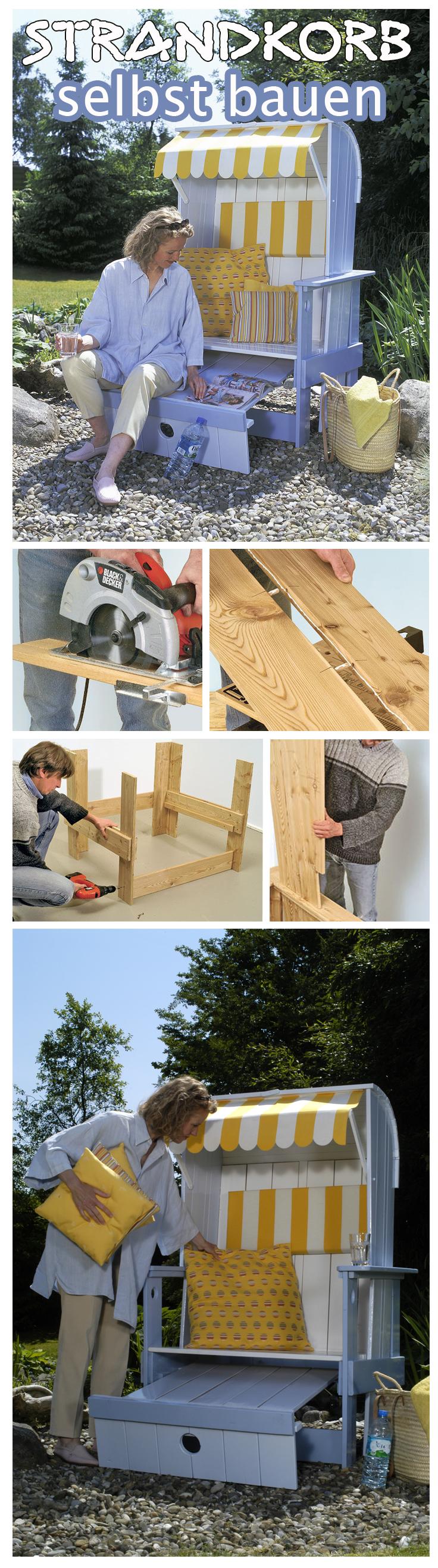strandkorb sonnenliege strandkorb und selbst bauen. Black Bedroom Furniture Sets. Home Design Ideas