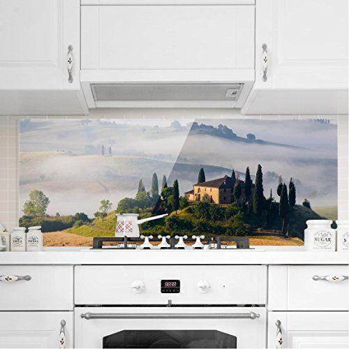 Bilderwelten Crédence en verre \u2013 Estate In Tuscany \u2013 Panorama - peinture bio pas cher
