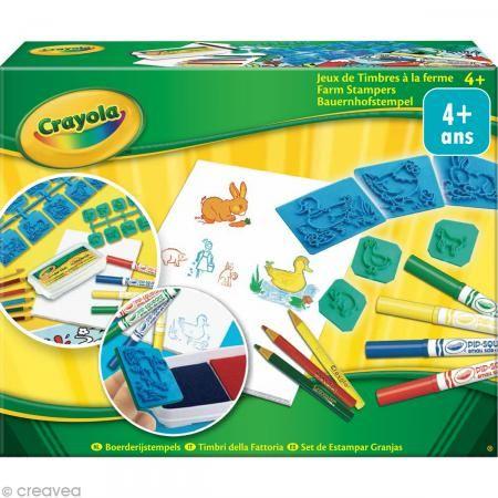 Kit juego de sellos En la granja - Crayola | Juegos de sellos, La ...