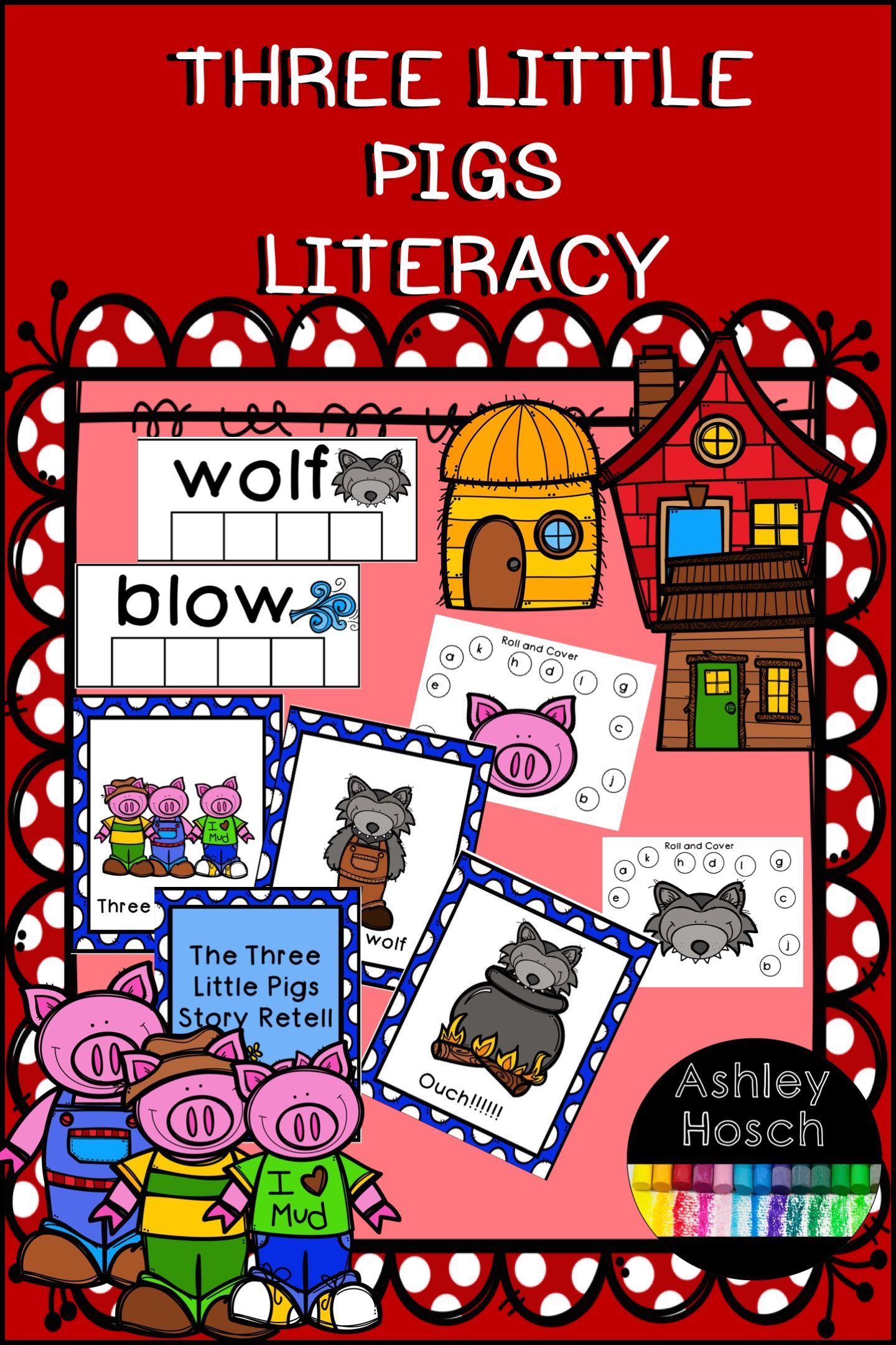 Three Little Pigs Literacy For Preschool Kindergarten Three Little Pigs Circle Time Activities Little Pigs [ 2161 x 1440 Pixel ]