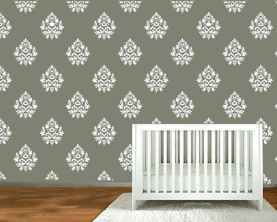 Damask Silhouette Wall Decals 12 Damask Wall Decals At 8 ~Custom Order~  Please Convo Me With Any Questions Or Special Request That