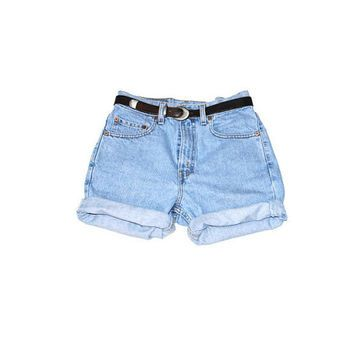 80s shorts denim