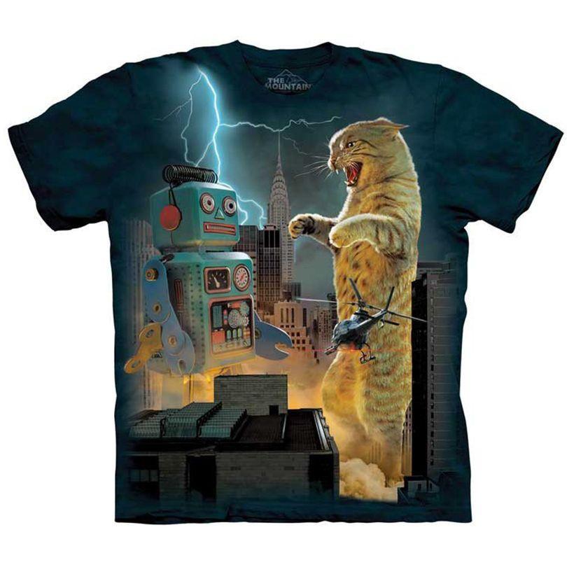 7fff143c3 CATZILLA VS ROBOT Funny Cat T-Shirt The Mountain Godzilla Kitten Tee S-5XL  NEW! #funnyshirt #cat #catshirt #godzilla