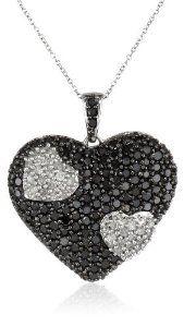 Blackdiamondpendant 10k white gold black and white heart diamond blackdiamondpendant 10k white gold black and white heart diamond pendant necklace 1 1 aloadofball Choice Image