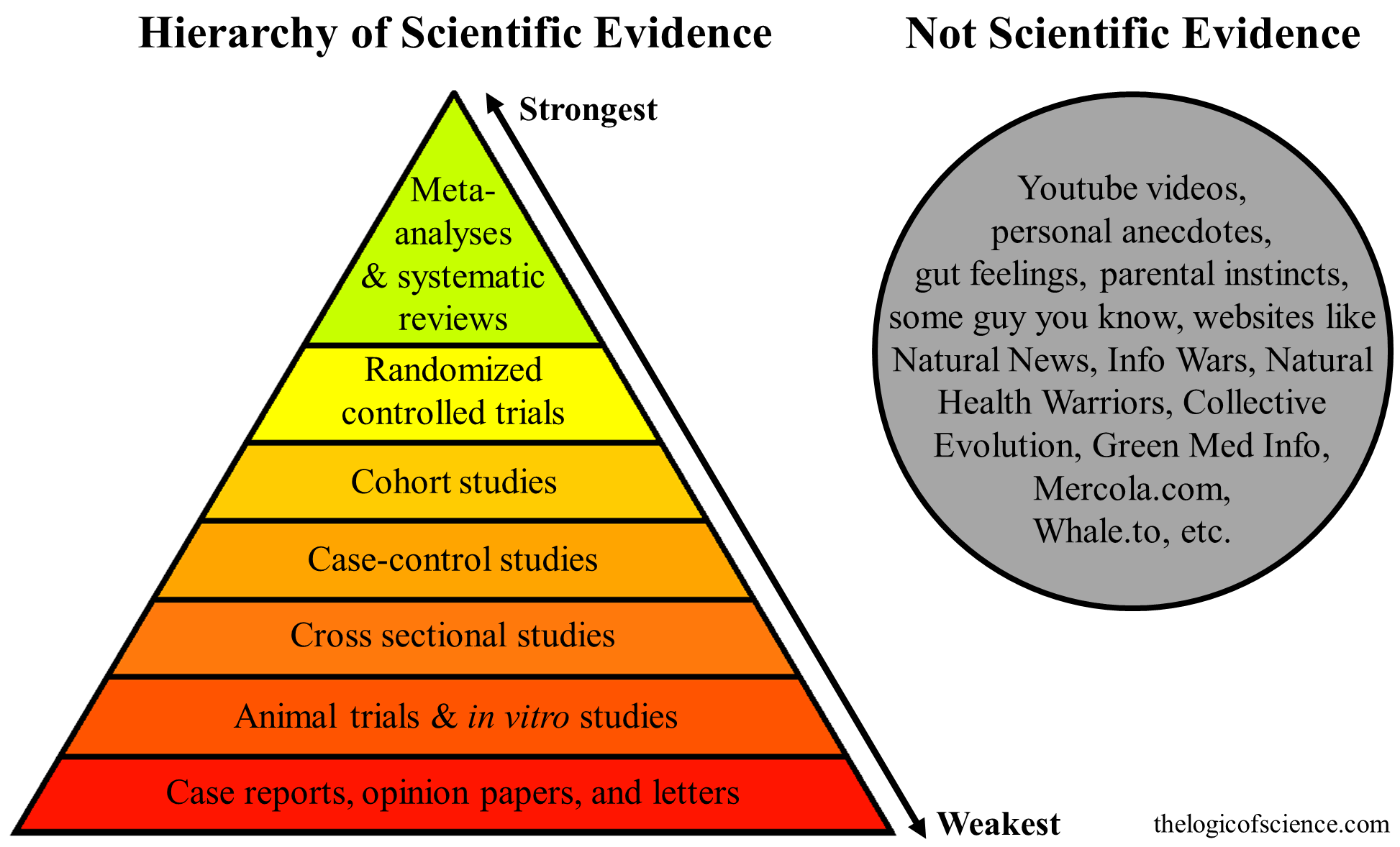 The hierarchy of evidence: Is the study's design robust? | People are…
