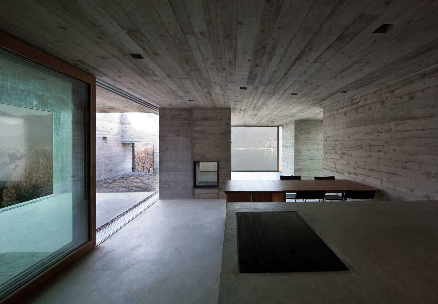 Wespi & de Meuron. House GR in S. Abbondio, Ticino, Switzerland. 2012. Photography Juan Rodriguez. Photo used on the cover of a.Mag02 magazine