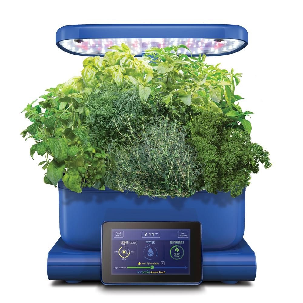 Aerogarden Pods Home Depot: AeroGarden Harvest Touch Indoor Hydroponic Garden Kit In