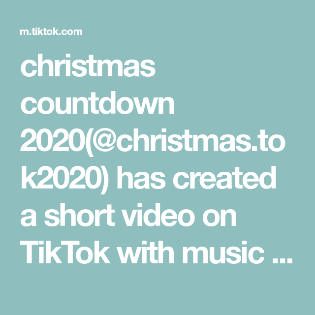Christmas Countdown 2020 Christmas Tok2020 Has Created A Short Video On Tiktok With Music Beginning To L In 2020 Christmas Sweet Treats Diy Desserts Christmas Baking