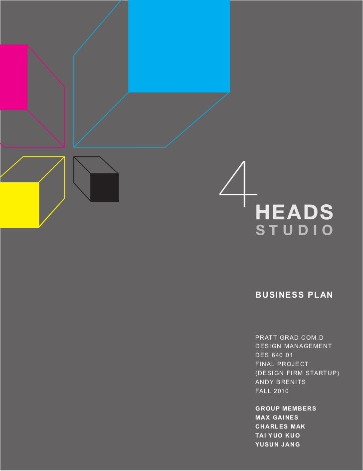Heads Studio Business Plan  B U S I N E S S  Startup