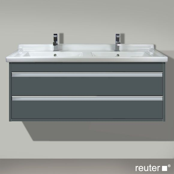 duravit ketho vanity wall unit double sink and double doors for
