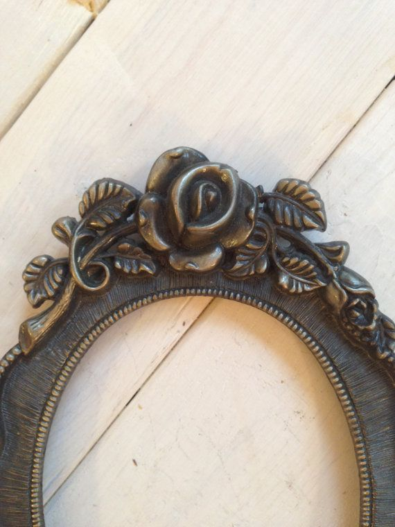 Antique Oval 4x6 Picture Frame With Rose Design by adolescentlion, $14.00