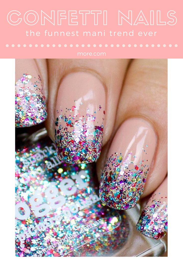 Confetti Nails Are The Funnest Mani Trend Ever