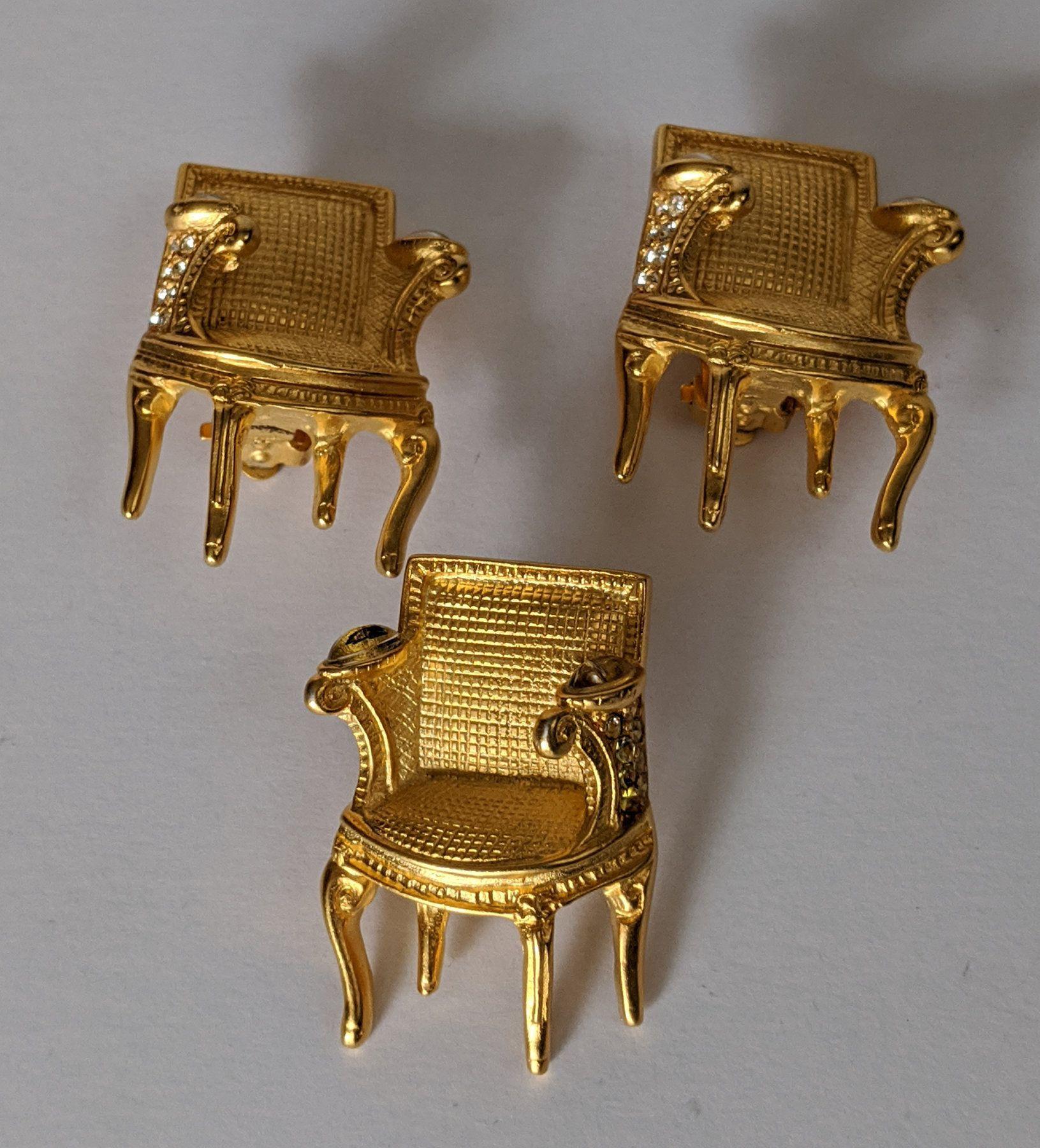 Acrylic Chair Earrings Aretes Silla En Acrilico Post Earrings Earrings Surgical Steel Earrings
