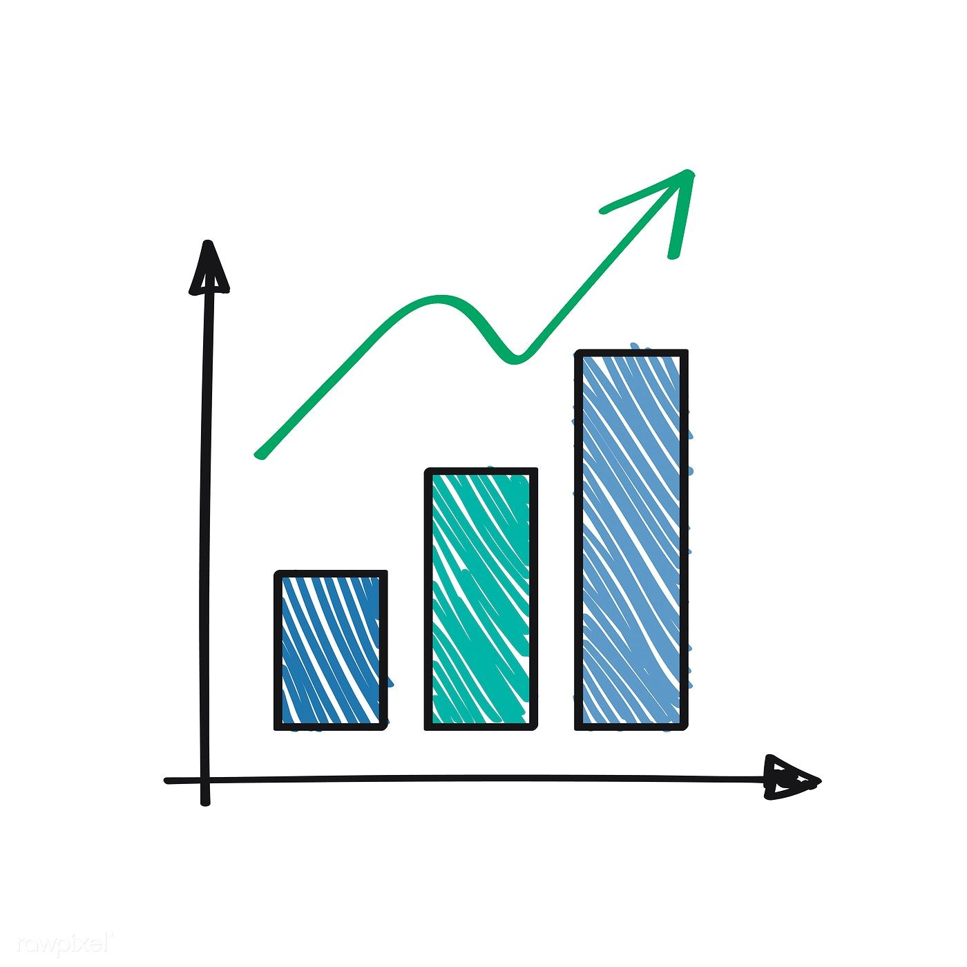 Positively Growing And Success Graph Illustration Free Image By