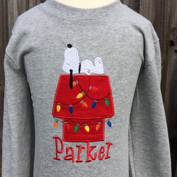 snoopy christmas shirt she makes sweat shirts and t shirts how cute - Snoopy Christmas Shirt