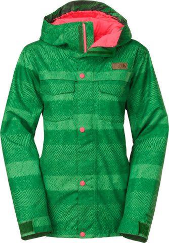 Ricas Ski Jacket North Insulated Face The Green Amazon Stripe PFOSw
