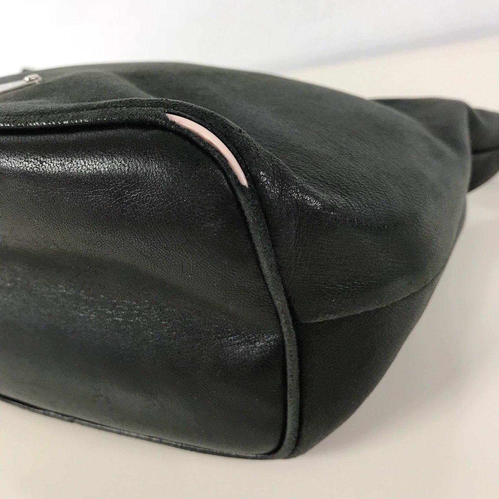 4fc1cf6d Small Black Leather Prada Purse