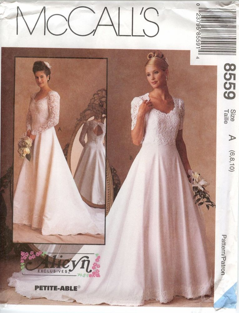 McCalls 8559 Alicyn Wedding Bridal Gown Dress Bride Bridesmaid ...