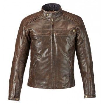 giacca moto uomo pelle cuoio vintage triumph