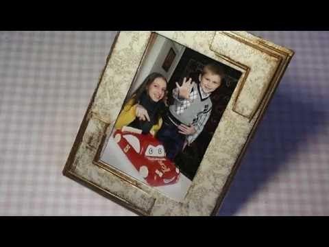 Как сделать фото рамку своими руками!!! Foto frame ...