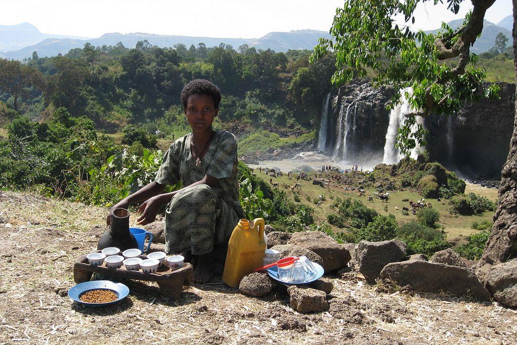 Blue nile falls ethiopia coffee shop มรปภาพ