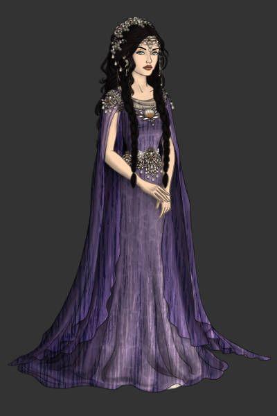 Arwen Undómiel ~ by victoriaenDios ~ created using the LotR Hobbit doll maker | DollDivine.com