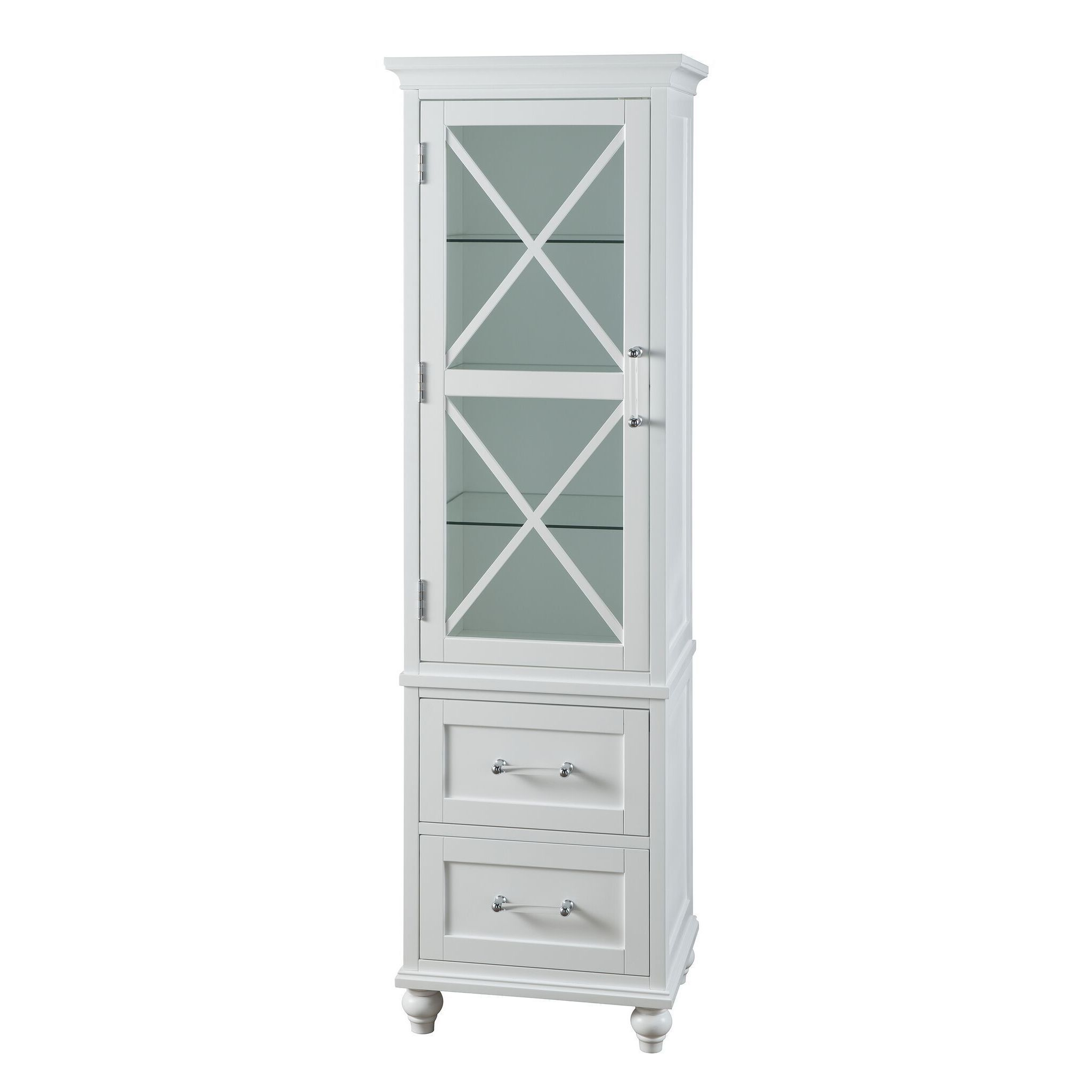 Grayson Linen Tower with 2 Drawers by Elegant Home Fashions (Grayson ...