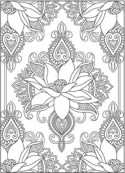 Flor de loto para pintar. Mándala para pintar | Medita con colores ...