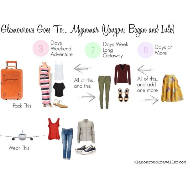 Glamourous Goes To... Myanmar (Yangon, Bagan, Inle); a 3 days, 7 days, and 8 days or more packing list