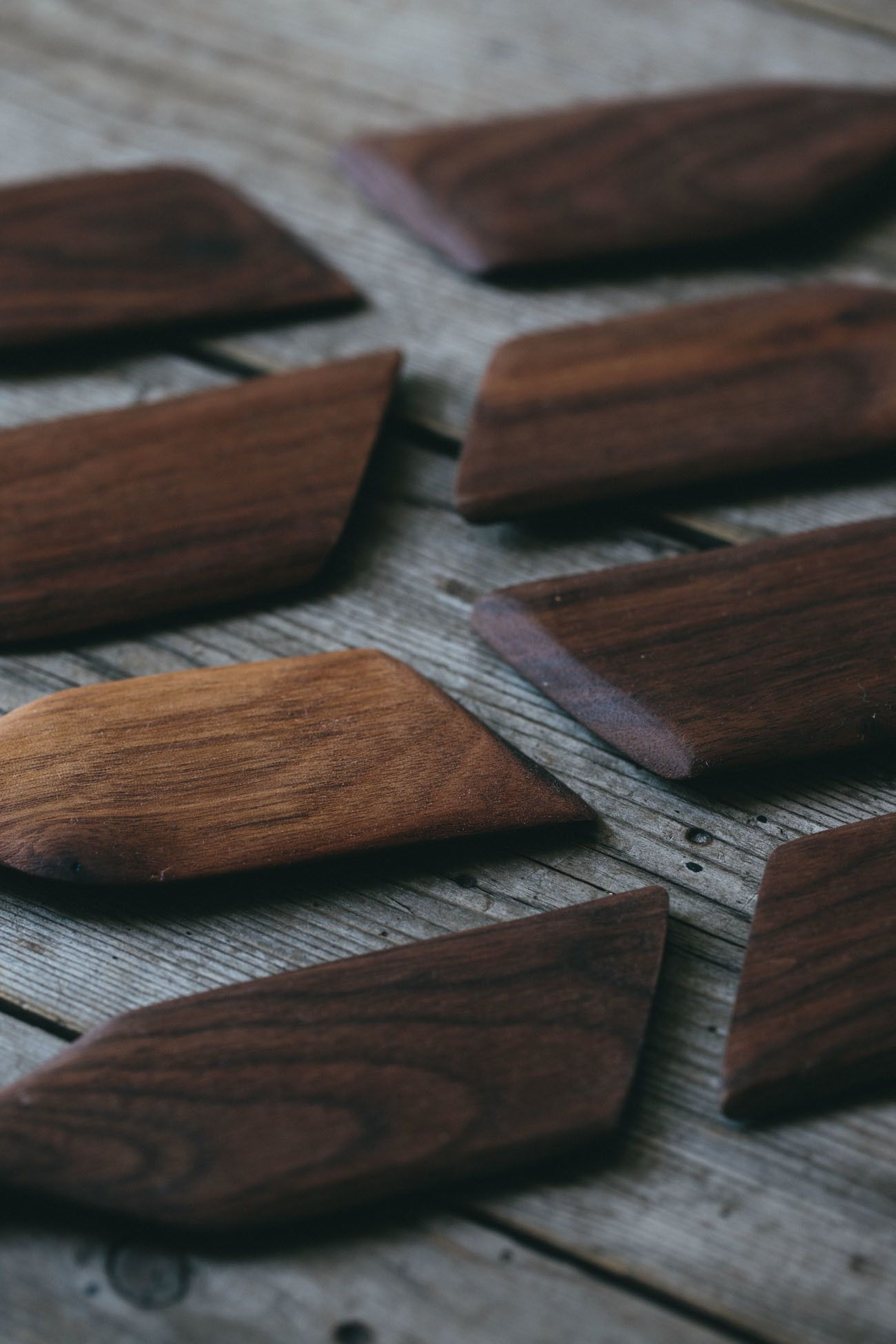 Tactile Hand Carved Wooden Spatula Made From Reclaimed