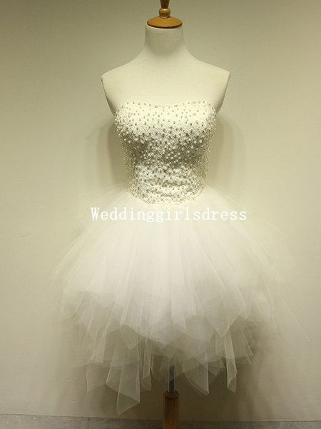Strapless Sweetheart Ball Gown Knee-length Lace Tulle Organza Beadings Rhinestone Short Dress Prom Dress Homecoming Dress Cocktail Dress
