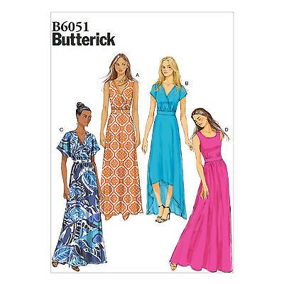 Butterick Sewing Pattern 6051 Misses/' Pullover Long Dress