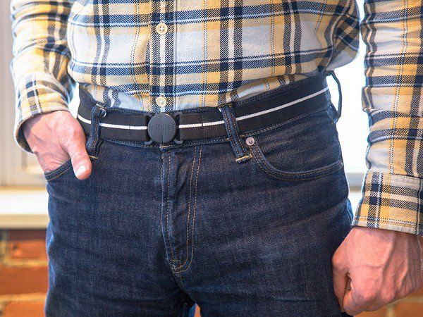 Modern Black Jelt Belt