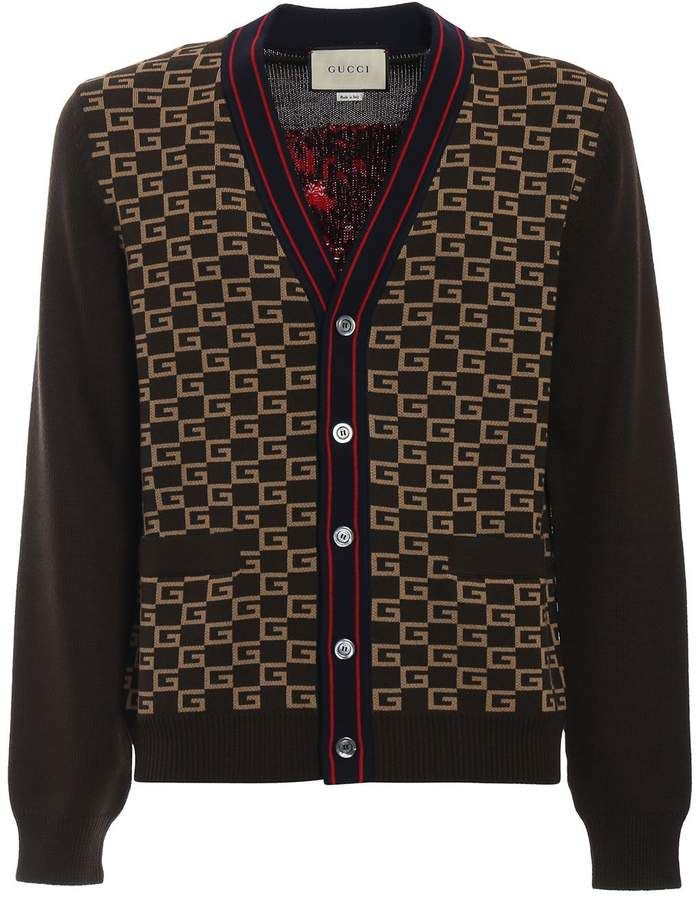 138b56692 Gucci Square G Cardigan   Products   Gucci, Men sweater, Sweaters