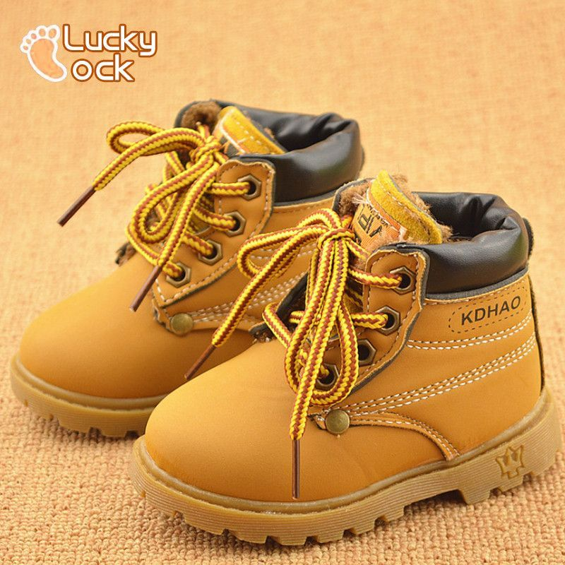 3ec79799ca58e New Kids Children Snow Boots Shoes for Girls Boys Fashion Soft Bottom Baby  Boot 21-30 Autumn Winter Child Boots Toddler Shoe