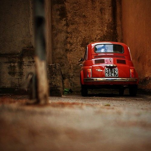 Artistic Picture Of A Fiat 500 Red Dressed Fiat 500 Coches
