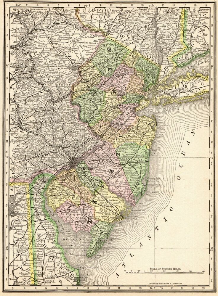 1880 Antique NEW JERSEY State Map Vintage Map of New Jersey ... on us map 1865, us map 1890, us map 1860, us map 1920, us map 1820, us map google earth, us map 1900, us map 1870, us map points of interest, us map 1850, us map 1910, us map 8.5 x 11, us map 1840, us map 13 colonies, us map 1790, us map mo, us map 1830, us map oceans, us map 1800, us map by population,
